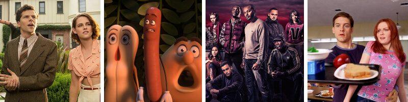 Café Society, Sausage Party, Brotherhood, Movie Hate: Bad Slapstick & Movie Love: Powers Discovery Scenes