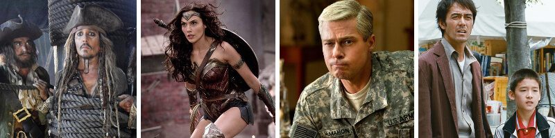 Wonder Woman, War Machine, Pirates of the Caribbean: Salazar's Revenge & After the Storm