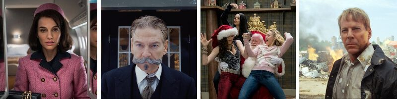 Murder on the Orient Express, Bad Moms Christmas, Jackie, Surrogates & Mystic Pizza